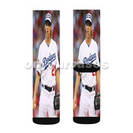 Zack Greinke LA Dodgers Baseball Players Custom Sublimation Printed Socks Polyester Acrylic Nylon Sp with Small Medium Large Size