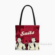 Suits TV Show Custom Personalized Tote Bag Polyester with Small Medium Large Size