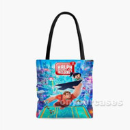 Ralph Breaks the Internet Wreck It Ralph 2 Custom Personalized Tote Bag Polyester with Small Medium Large Size