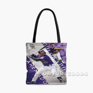 Nolan Arenado MLB Colorado Rockies Custom Personalized Tote Bag Polyester with Small Medium Large Size