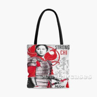 Strong Chi Disney Mulan Custom Personalized Tote Bag Polyester with Small Medium Large Size