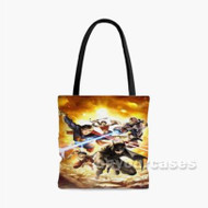 Justice League Superhero Custom Personalized Tote Bag Polyester with Small Medium Large Size
