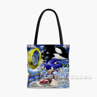 Sonic The Hedgehog 2 Custom Personalized Tote Bag Polyester with Small Medium Large Size