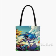 Sonic The Hedgehog 3 Custom Personalized Tote Bag Polyester with Small Medium Large Size