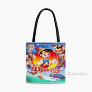 Disney Pinocchio Characters Custom Personalized Tote Bag Polyester with Small Medium Large Size