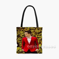 Panic at the Disco Brendon Urie Custom Personalized Tote Bag Polyester with Small Medium Large Size