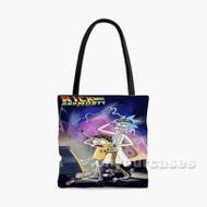 Rick and Morty Back To The Future Parody Custom Personalized Tote Bag Polyester with Small Medium Large Size