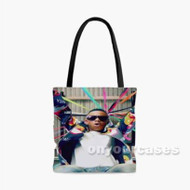 Silento Glassess Custom Personalized Tote Bag Polyester with Small Medium Large Size