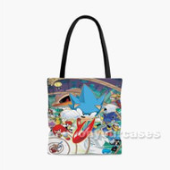 Sonic The Hedgehog All Characters Custom Personalized Tote Bag Polyester with Small Medium Large Size