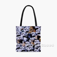 Star Wars Characters With Troopers Custom Personalized Tote Bag Polyester with Small Medium Large Size