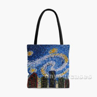 Starry Night Houston City Custom Personalized Tote Bag Polyester with Small Medium Large Size