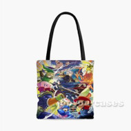 Super Smash Bros Caharacters Collage Custom Personalized Tote Bag Polyester with Small Medium Large Size