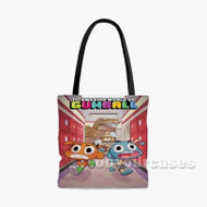 The Amazing World of Gumball Dinosaur Attack Custom Personalized Tote Bag Polyester with Small Medium Large Size
