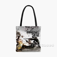 Tom Clancy s Rainbow Six Siege Custom Personalized Tote Bag Polyester with Small Medium Large Size