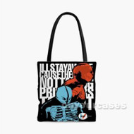 Twenty One Pilots Skull Custom Personalized Tote Bag Polyester with Small Medium Large Size