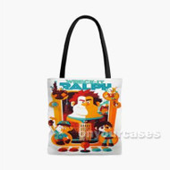 Wreck It Ralph All Chaaracters Custom Personalized Tote Bag Polyester with Small Medium Large Size