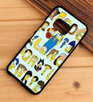 Simpsons Alphabet HTC One X M7 M8 M9 Case