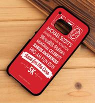 The Office Dunder Mifflin - Rabies Awareness Fun Run HTC One X M7 M8 M9 Case