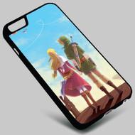 Link and Zelda-The Legend of Zelda (2) on your case iphone 4 4s 5 5s 5c 6 6plus 7 Samsung Galaxy s3 s4 s5 s6 s7 HTC Case