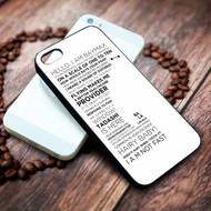 Baymax Quotes Disney Big Hero 6 Custom on your case iphone 4 4s 5 5s 5c 6 6plus 7 case / cases