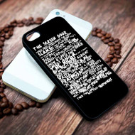 Bruce Springsteen Thunder Road Lyrics Custom on your case iphone 4 4s 5 5s 5c 6 6plus 7 case / cases