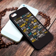 Arctic Monkeys I Wanna Be Yours Lyrics Custom on your case iphone 4 4s 5 5s 5c 6 6plus 7 case / cases