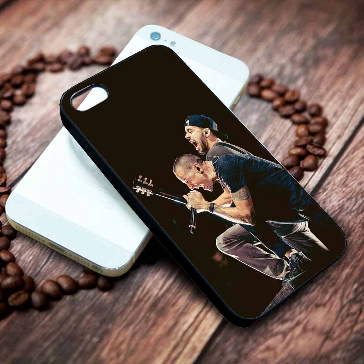 Mike Shinoda and Chester Bennington Linkin Park Custom on your case iphone 4 4s 5 5s 5c 6 6plus 7 case / cases