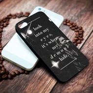 Demons Imagine Dragons Lyrics Custom on your case iphone 4 4s 5 5s 5c 6 6plus 7 case / cases