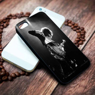 Jimmy Page with Guitar Custom on your case iphone 4 4s 5 5s 5c 6 6plus 7 case / cases