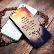OneRepublic Quotes Custom on your case iphone 4 4s 5 5s 5c 6 6plus 7 case / cases