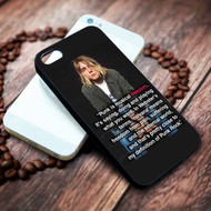 Kurt Cobain Punk Quotes Custom on your case iphone 4 4s 5 5s 5c 6 6plus 7 case / cases