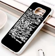 Bruce Springsteen Thunder Road Lyrics Custom Samsung Galaxy S3 S4 S5 S6 S7 Case