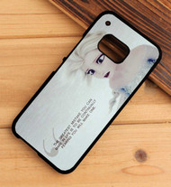 Queen Elsa Frozen Quotes Custom HTC One X M7 M8 M9 Case