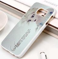 Queen Elsa Frozen Quotes Custom Samsung Galaxy S3 S4 S5 S6 S7 Case