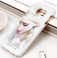 Queen Elsa Quotes Disney Frozen Custom Samsung Galaxy S3 S4 S5 S6 S7 Case