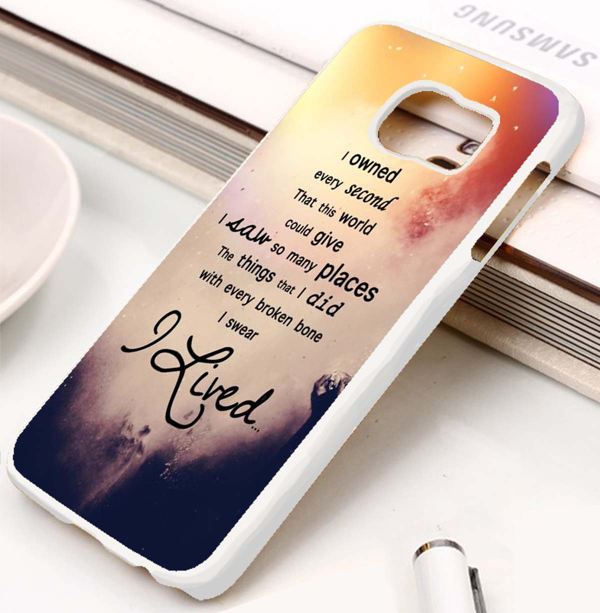 OneRepublic Quotes Custom Samsung Galaxy S3 S4 S5 S6 S7 Case