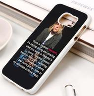 Kurt Cobain Punk Quotes Custom Samsung Galaxy S3 S4 S5 S6 S7 Case
