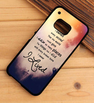OneRepublic Quotes Custom HTC One X M7 M8 M9 Case