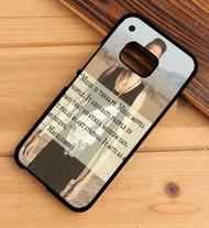 Macklemore Music Quotes Custom HTC One X M7 M8 M9 Case