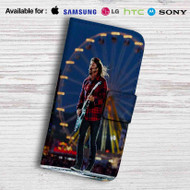 Dave Grohl Foo Fighters Concert Leather Wallet iPhone 5 Case