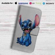 Stitch Disney Leather Wallet iPhone 5 Case