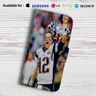 Tom Brady New England Patriots Leather Wallet iPhone 5 Case