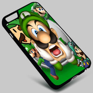 Luigi Mario Bros on your case iphone 4 4s 5 5s 5c 6 6plus 7 Samsung Galaxy s3 s4 s5 s6 s7 HTC Case