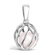 October  Birthstone -- Rose Quartz (twisted)