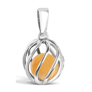 November Birthstone -- Amber (twisted)