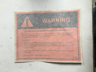 LABEL, AUTOSTART WARNING (CAB)