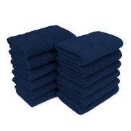 Towels - Cotton Terry Navy Blue