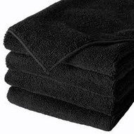 Towels - Cotton Terry Black