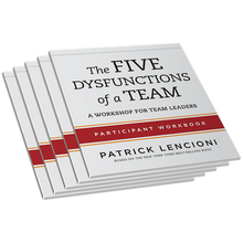 Five Dysfunctions of a Team Leader Workbook 5-Pack