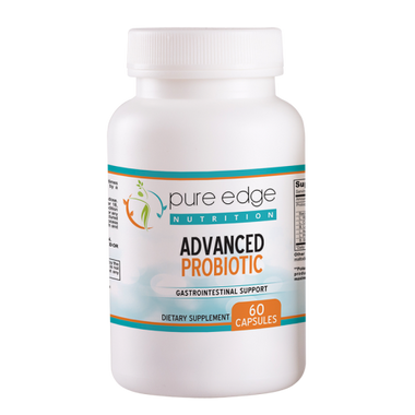 Improve Immune System Function, Colon Health and restore Natural Digestive Balance...  Pure Edge Nutrition Advanced Probiotic contains over 5 Billion live probiotic cells per capsule.  All natural formula promotes optimal health for Men and Women.  As we get older, often our intestinal flora decreases which causes our digestive system to not function properly.  Pure Edge Nutrition Advanced Probiotic may help alleviate gas, bloating, reduce constipation, irregularity and improve lactose intolerance.      These Statements have not been evaluated by the Food and Drug Administration. This product is not intended to diagnose, treat, cure or prevent any disease.
